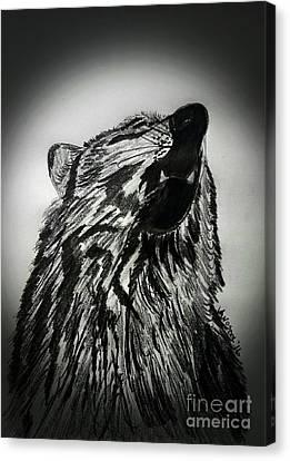 The Revolution Begins - Moonlight Abstract Canvas Print by Scott D Van Osdol