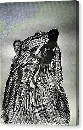 The Revolution Begins - Moonlight Mist Abstract Canvas Print by Scott D Van Osdol