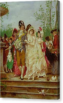 The Revolutionist's Bride, Paris, 1799 Canvas Print