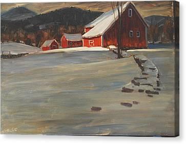 The Reynold's Homestead Canvas Print by Len Stomski