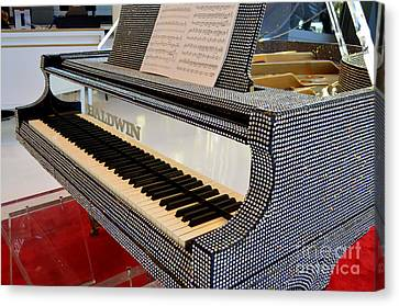 The Rhinestone Piano Canvas Print by Mary Deal