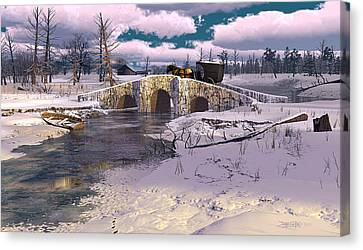 The Rhythm Of Frost Canvas Print by Dieter Carlton