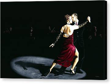 The Rhythm Of Tango Canvas Print by Richard Young