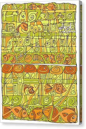 The Rhythm Of Things Canvas Print by Linda Kay Thomas