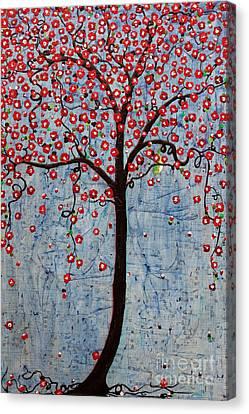 The Rhythm Tree Canvas Print by Natalie Briney
