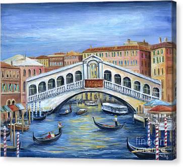 Canvas Print - The Rialto Bridge by Marilyn Dunlap