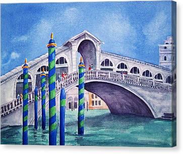The Rialto Bridge Canvas Print