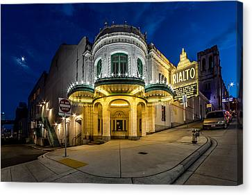 The Rialto Theater - Historic Landmark Canvas Print by Rob Green