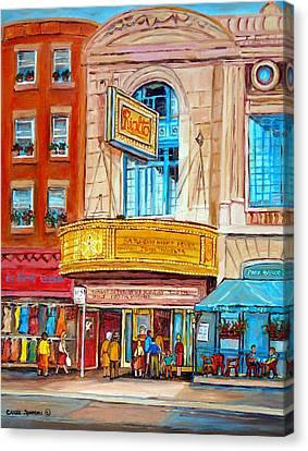 The Rialto Theatre Montreal Canvas Print by Carole Spandau