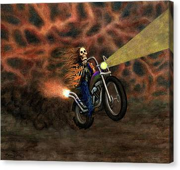The Ride Out Of Bardo Canvas Print by Bobby Beausoleil