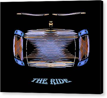 The Ride Canvas Print by R Thomas Brass