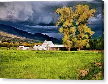 Barn Storm Canvas Print - The Right Place At The Right Time by James Steele
