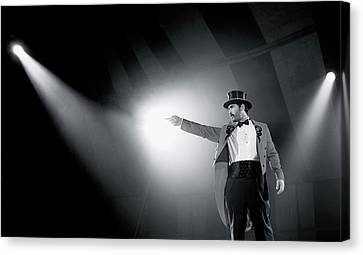 The Ringmaster Canvas Print by Glennis Siverson