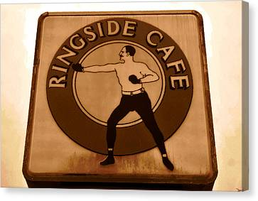 The Ringside Cafe Canvas Print by David Lee Thompson