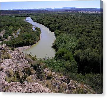 Canvas Print featuring the photograph The Rio Grande River by Karen Musick