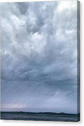 Canvas Print featuring the photograph The Rising Storm by Jouko Lehto