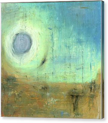 Canvas Print featuring the painting The Rising Sun by Michal Mitak Mahgerefteh