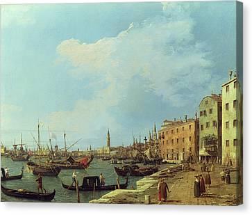 The Riva Degli Schiavoni Canvas Print by Canaletto