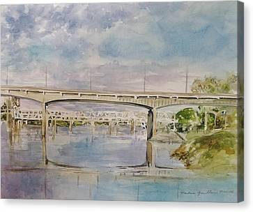 The River Bridges Canvas Print by Marlene Gremillion