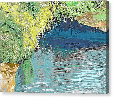 The River Cave Canvas Print