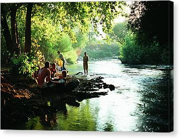 Canvas Print featuring the photograph The River by Dubi Roman