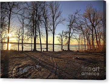 The River Canvas Print by Larry Braun