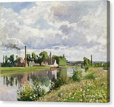 The River Oise Near Pontoise Canvas Print