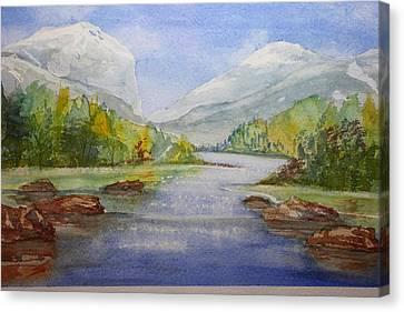 The River Canvas Print by Remegio Onia