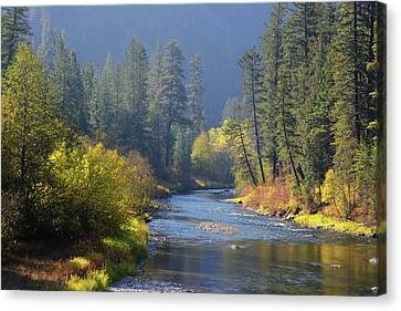 The River Runs Through Autumn Canvas Print