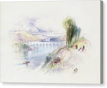 The River Schuykill Canvas Print by Thomas Moran