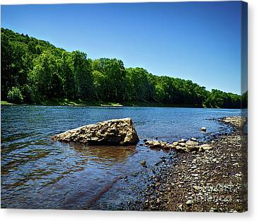 The River's Edge Canvas Print by Mark Miller
