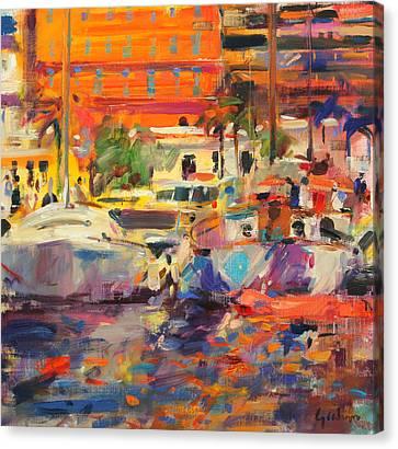 The Riviera At Menton Canvas Print