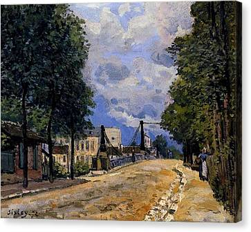 Gennevilliers Canvas Print - The Road From Gennevilliers by MotionAge Designs