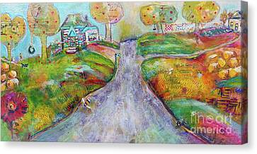 Canvas Print featuring the painting The Road Home by Claire Bull