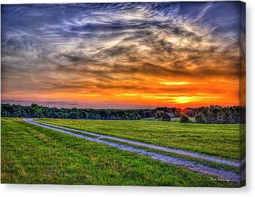 Pastureland Canvas Print - The Road Home Sunset  Country Living Art by Reid Callaway