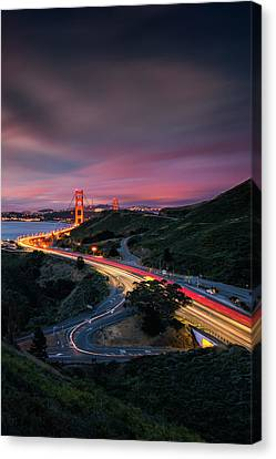 The Road In... San Francisco Canvas Print by Vincent James