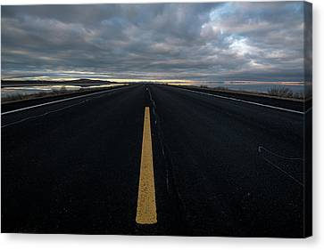 The Road Canvas Print by Justin Johnson