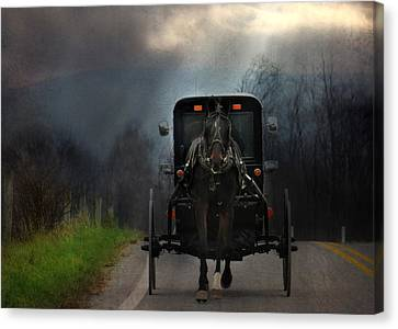 Amish Country Canvas Print - The Road Less Traveled by Lori Deiter