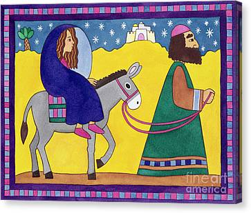 The Road To Bethlehem Canvas Print by Cathy Baxter