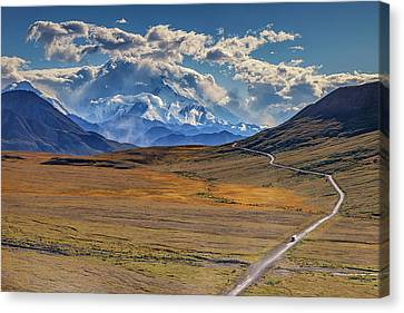 The Road To Denali Canvas Print