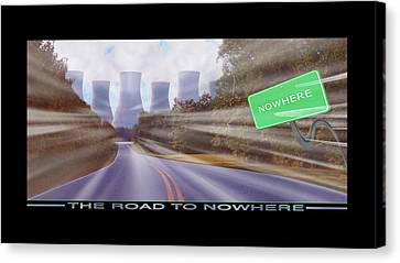 The Road To Nowhere Canvas Print by Mike McGlothlen