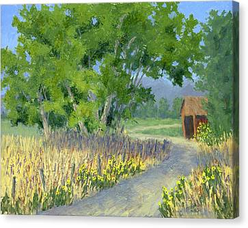 The Road To The Back Field Canvas Print