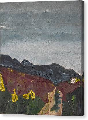 The Road To The Mountain Canvas Print by Francois Fournier
