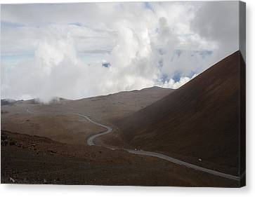 The Road To The Snow Goddess Canvas Print by Ryan Manuel