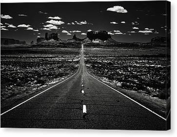 The Road To The West Canvas Print by Eduard Moldoveanu