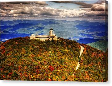 Chrystal Canvas Print - The Road Up To Brasstown Bald by Chrystal Mimbs