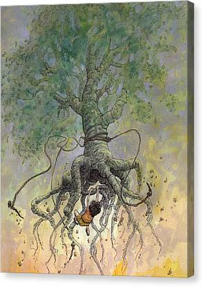 Tree Creature Canvas Print - The Roaming Oak by Ethan Harris