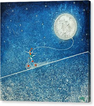 The Robbery Of The Moon Canvas Print by Graciela Bello
