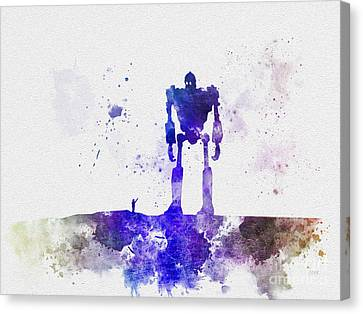 The Robot Who Fell From Space Canvas Print by Rebecca Jenkins