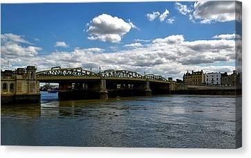 The Rochester Bridge Over The River Medway  Canvas Print by Barry Marsh